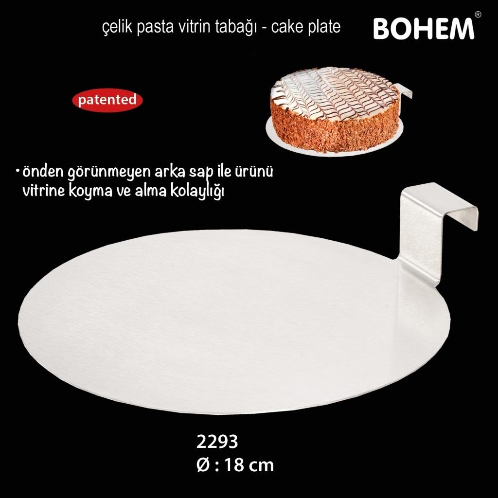 Çelik Pasta Vitrin Tabağı