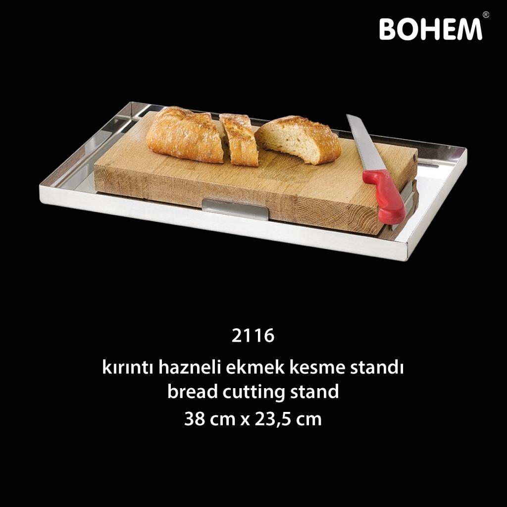 Kırıntı Hazneli Ekmek Kesme Standı